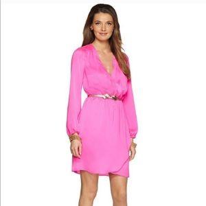 Lily Pulitzer Whitaker Pop Pink Wrap Dress